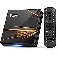 Bqeel TV Box Android 10.0 【4G+64G】 R2 Plus Android TV Box RK3318 Quad-Core 64bit Cortex-A53/ Wi-FI 2.4G/5G / LAN 100M…