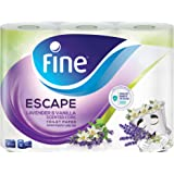 Fine Escape Toilet Paper with Vanilla and Lavender Scent, 150 Sheets, 3 Ply - 6 Rolls