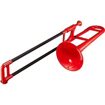 PBONE 700638 Mini Trombone with Mouthpiece and Bag, Red