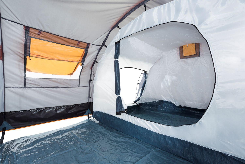 CampFeuer - Tunnel Tent, 410 x 260 x 150 cm, 4 Person, Orange / Grey / Black 7