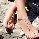 Clicca sull'immagine per la visualizzazione estesa Jovono caviglia braccialetto spiaggia calzature con lasciare nappa catena