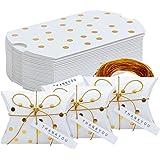 TsunNee - Scatole di carta per caramelle con biglietto di ringraziamento, scatole regalo natalizie, scatole per bomboniere, s