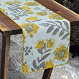 Yellow Floral Festive & Formal Collection Cotton Table Runner Easily Fits on 4,6 Seater Designed by Bilberry Furnishings…