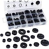 Aussel Zwarte rubberen afdichting voor elektrische geleiderafdichting, assortiment ter bescherming van draden, stekkers en ka