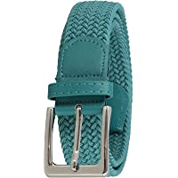 FASHIONGEN - Cintura Vera Pelle Elastica Intrecciata per Uomo e Donna, per Jeans Pantaloni, PERDERSEN