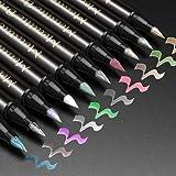 Rotuladores Pincel Metálicos, ANYUKE 10 Colores Rotuladores Metálicos para Álbum de Fotos, Libro de Firmas Boda, Caja de Rega