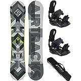 fixation pour snowboard Star ou Master FGASTEC Airtracks Another World Kit de snowboard en carbone sac de snowboard 153 160 164 cm
