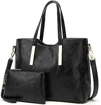 TcIFE Handtasche Damen Groß Handtaschen Set Für Frauen Umhängetasche Taschen 2-Teiliges Set