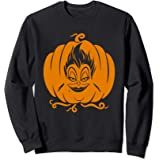 Disney Villains Ursula Jack-O'-Lantern Pumpkin Halloween Sweatshirt