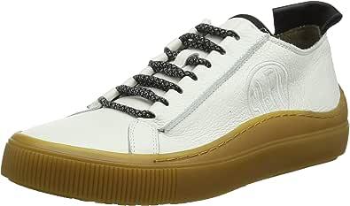 Fly London Sate384fly, Sneaker Uomo, Bianco (White/Black (Camel Sole) 003), 40 EU