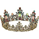 Makone Crystal Tiara Crown Baroque for Girls and Women Wedding Bridal Crown Proms Pageants Princess Birthday Party