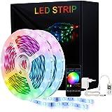 LED Strip,KooPower RGB LED Streifen Farbwechsel Led Lichterkette 5M Flexible APP-Steuerung LED Bänder Strips Bluetooth Kontro