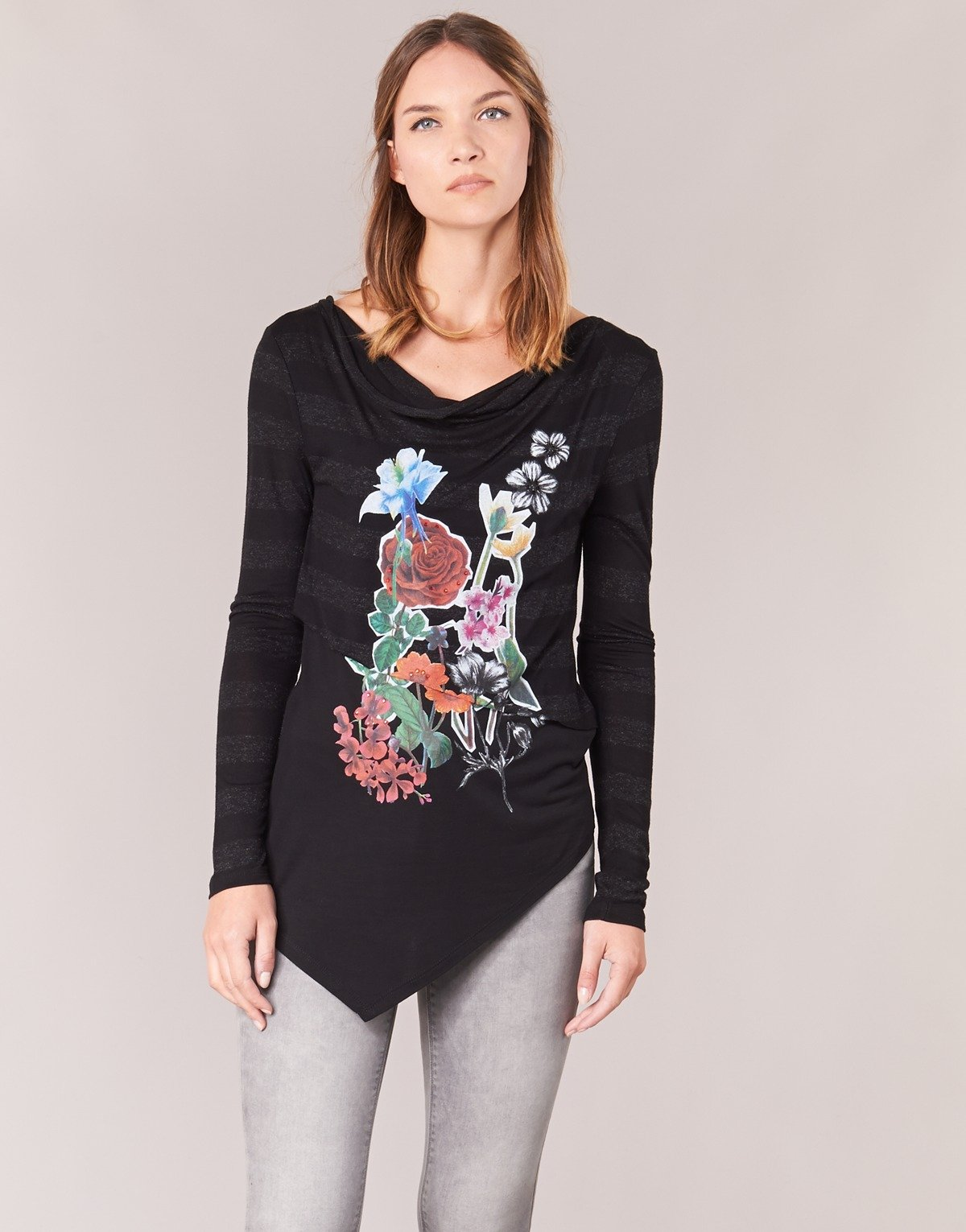 Desigual TS_Silvia Camisa Manga Larga para Mujer