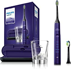 Philips Sonicare DiamondClean Elektrische Zahnbürste mit Schalltechnologie HX9372/04, violett