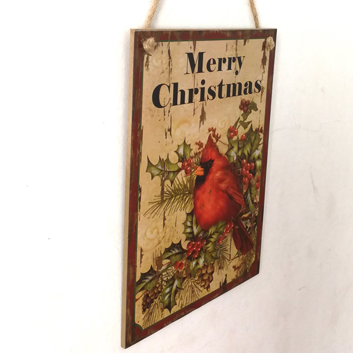 Addobbi Natalizi Vintage.Oulii Decorazioni Natalizie In Legno Addobbi Natalizi Porta Merry Christmas Targhe Decorative Vintage