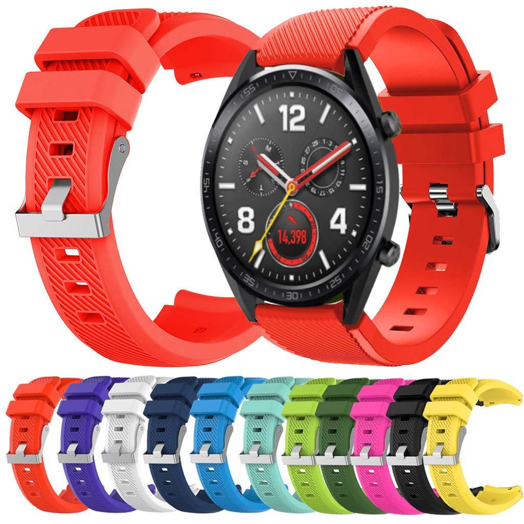 Correa para Reloj Huawei GT/GT2 Smartwatch 22mm /46mm para La Muñeca con Correa De Reloj De Silicona De Repuesto Correa… 1