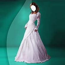 Vestido de novia de montaje de la foto