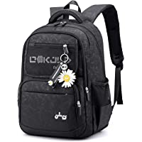 Suweir Girls Backpack School Bags for Adolescent Girls Waterproof Book Bags Laptop Bag with Daisy Pendant Travel Hiking…