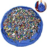 Phego Tappetino per giochi semplici che si trasforma in sacco di raccolta,ideale per un veloce la raccolta Lego, Dupla e gioc