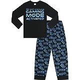 Pijamas largos de PyjamaFactory no molestar en el modo de juego activado por toda la impresión azul