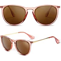 SUNGAIT Occhiali da Sole Rotondi Vintage per Donne Classic Retro Designer delle signore di Stile Occhiali da Sole