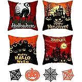 Halloween kussensloop kussensloop 45x45cm Halloween Pompoen Throw Pillow Case Halloween Throw Pillow Cover Halloween kussensl
