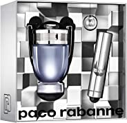 Paco Rabanne Invictus For Men Eau de Toilette, 50ml and Travel Spray 10ml