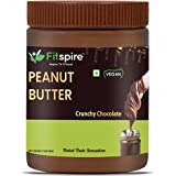 Fitspire Fit 100% Roasted Peanuts Butter Crunchy | Rich in Source of Fiber & Protein | No Cholesterol, Gluten-Free | Deliciou