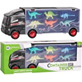 Camión Transportador de Dinosaurios y 12 Figuras de Juego Dinosaurios Jurassic Dino World Set,Coche de Juguetes de Dinosaurio