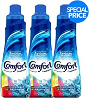 Comfort Concentrated Fabric Softener Iris & Jasmine, 750 ml (Pack of 3)