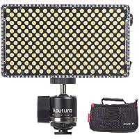 Aputure AL-F7 LED Lampe Vidéo Lumineuse Panel 3200K-9500K Couleur Température CRI95 + 256pcs LED Perles Luminosité Réglable avec Cold Shoe Mount Sac de Transport