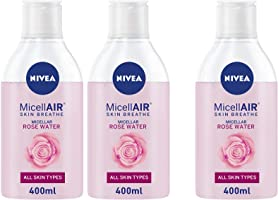 NIVEA, Face Wash, MicellAIR, Micellar Rose Water, 3 x 400ml