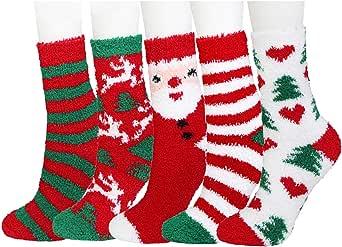 TOSKATOK Dames Filles 3 paires de chaussettes douces et douillettes anti derapantes