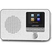 LEMEGA IR1 Tragbares WiFi Internetradio,DAB/DAB+/FM Digitalradio,Bluetooth,Doppelwecker,Schlaf-Snooze-Timer,60…