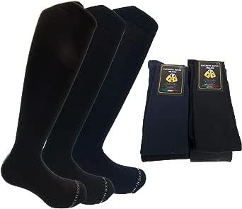 Lucchetti Socks Milano 6 PAIA di calze calzini UOMO LUNGHE caldo cotone ELASTICIZZATE,100% Made in Italy