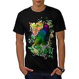 Wellcoda Bird Colorful Art Mens T-Shirt, Parrot Graphic Design Printed Tee