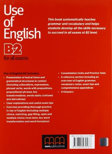 Use of english for all exams. B2. Per le Scuole superiori
