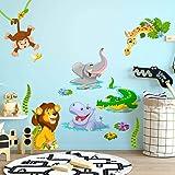R00429 Stickers muraux effet tissu doux décoration murale bébé nouveau-né pépinière chambre maternelle papier peint adhésif -