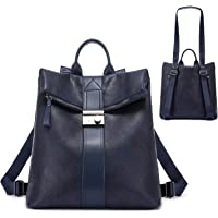 Realer Rucksack Damen, Elegant Rucksacktasche Rucksackhandtasche 2 in 1, Wasserdichte Handtasche als Rucksack…
