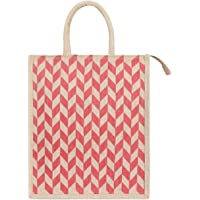 DUSSLE DORF Eco Friendly Shopping Grocery Lunch Tote Jute Bag  Jute Bag with Zip Tiffin Bag