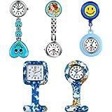Set orologio da infermiera con gatto e orologio da infermiera, analogico, digitale, in silicone, orologio da taschino, orolog