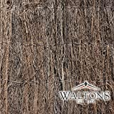 Waltons Standard Brushwood Thatch Fencing Outdoor Screen 4m x 2m Screening Panel for Gardens, Balcony, Terraces, Wind/Sun Privacy Shield Divider - Waltons - amazon.co.uk