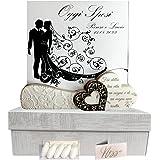 regalami.Shop Elegante portafoto per bomboniera Matrimonio in Marmo di Carrara e Legno cm.15x15