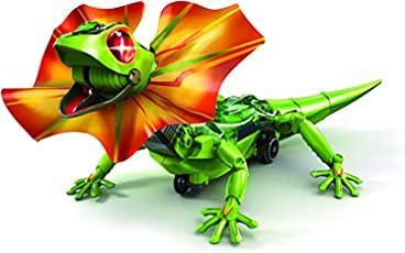 Pepperonz Self Assembly DIY Lizard Toy Induction Robot Dragon with LED Eyes: Toys & Games