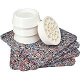 Tapis anti-vibrations pour machine à laver, universel, set de 4 amortisseurs anti-vibrations, coussinets anti-dérapants pour