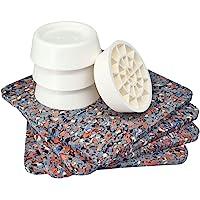 Tapis anti-vibrations pour machine à laver, universel, set de 4 amortisseurs anti-vibrations, coussinets anti-dérapants…