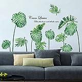 decalmile Pegatinas de Pared Planta Tropicales Vinilos Decorativos Palmera Hojas Verde Adhesivos Pared Salón Habitación Dormi