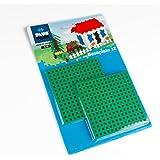 """Plus-Plus 4022 - """"Baseplate 12x12 cm, Duo Pack, 2 pcs, Gre Baukasten"""