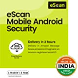 eScan 1 User 3 Years Mobile Android Security (Email Delivery - No CD)