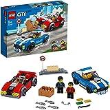 LEGO 60242 City LaCourse-Poursuitesurl'autoroute, avec 2 Jouets de Voiture, Ensemble de Construction pour Enfants de 5 Ans